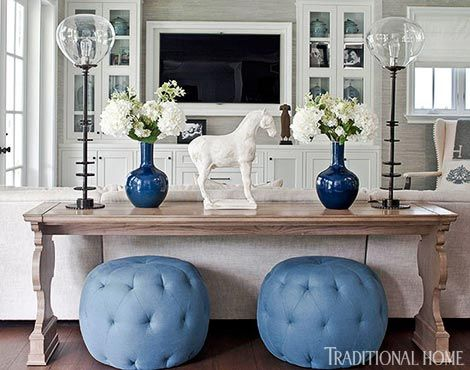 At Home with Bill and Giuliana Rancic   Sitting Pretty   Sofa table