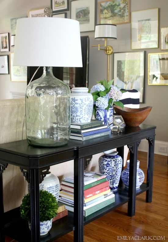 Styling A New (To Me) Console Table   My Home and Projects   Sofa