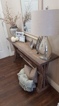 97 Best sofa table decor images in 2019   Entrance hall, Credenzas