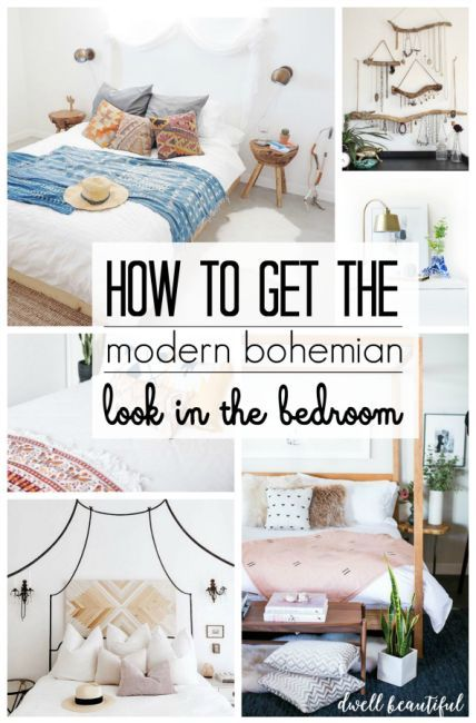 Modern Bohemian Bedroom Inspiration |