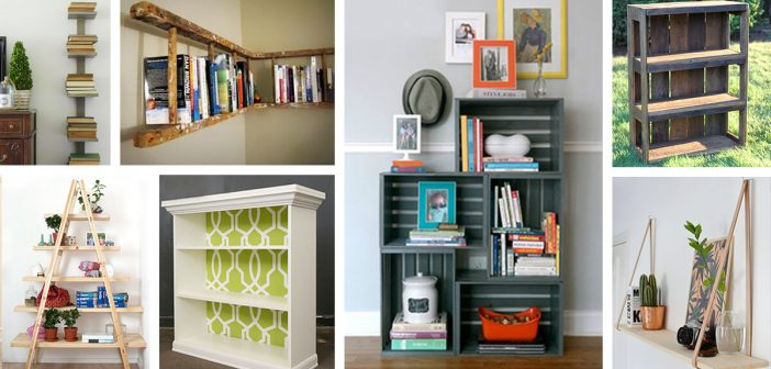 26 Best DIY Bookshelf Ideas and Designs for 2019