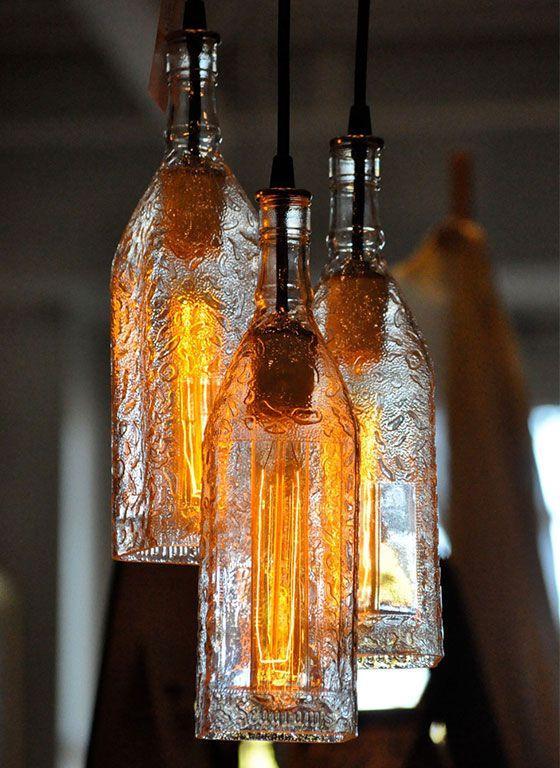 Diy Bottle Lamp Ideas 11