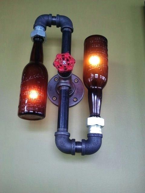 Diy Bottle Lamp Ideas 9
