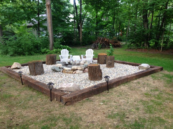 Inspiration for Backyard Fire Pit Designs | House | Backyard seating