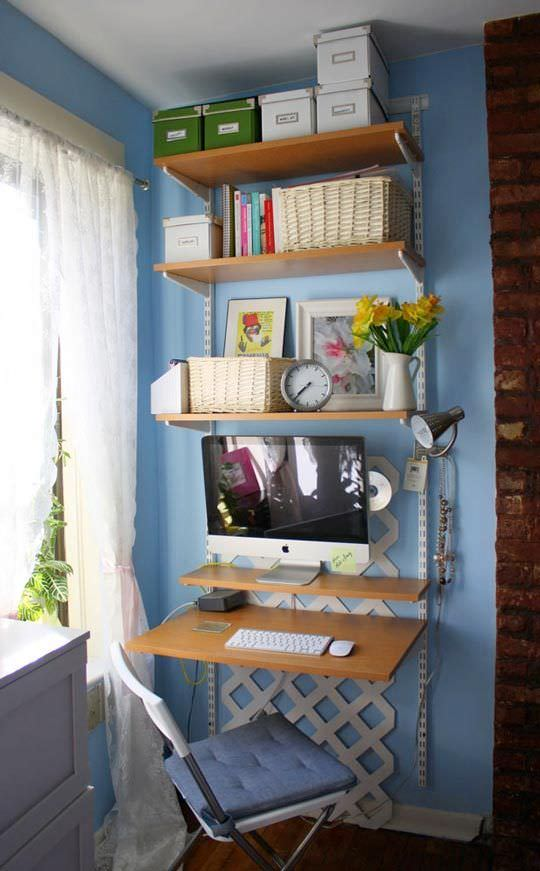 DIY Home Office - Small Spaces | OhMeOhMy Blog