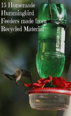 27 Homemade Hummingbird Feeders From Recycled Material | hummingbird
