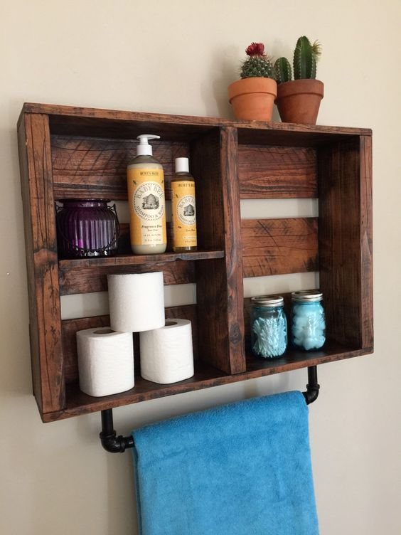 The Best 60+ DIY Pallet Projects for Your Bathroom - Crafts and DIY