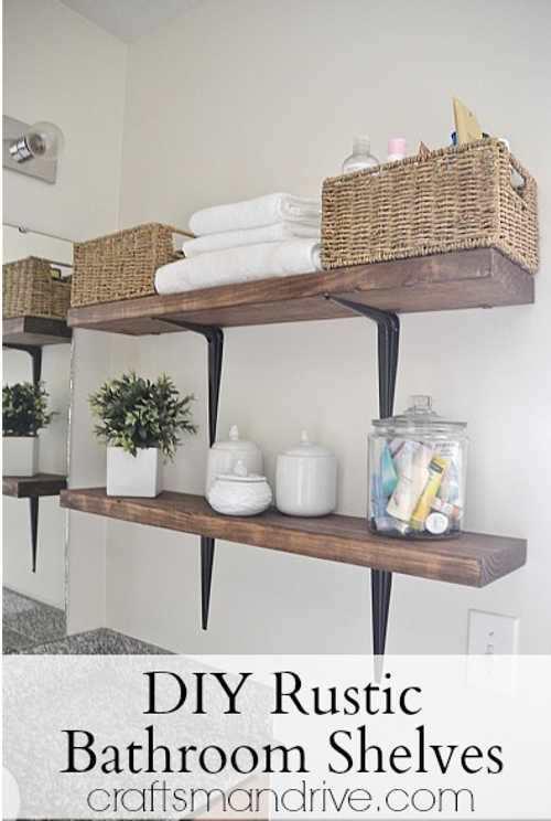 30+ DIY Storage Ideas To Organize your Bathroom - Splendid DIY