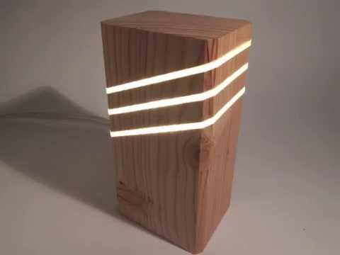 Wood Lamp design - YouTube