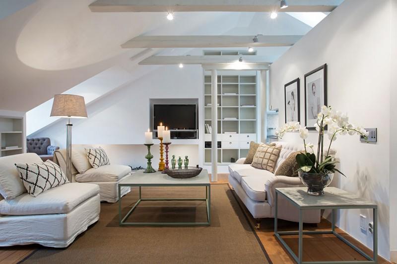 Scandinavian Design: an Elegant Attic by Karlaplan