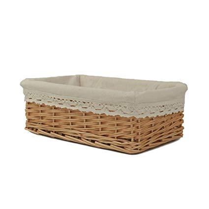 Amazon.com: Rurality Plain and Elegant Wicker Storage Basket with