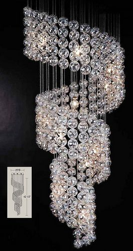 4693 HELIX CHANDELIER | Fantasy Homes, Rooms and Interiors