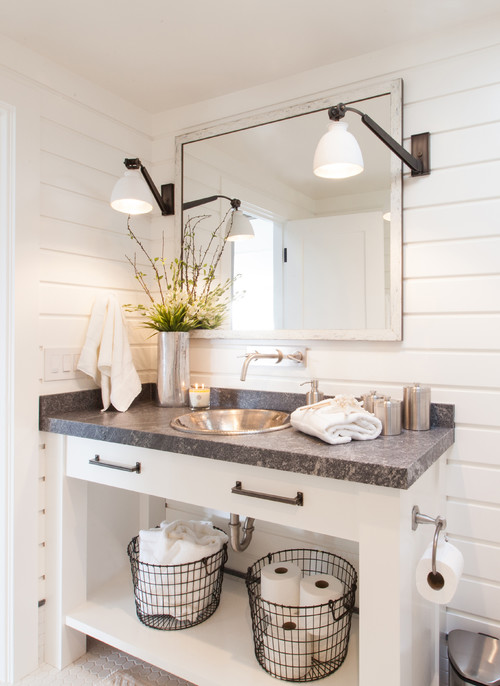 20 Beautiful Farmhouse Bathroom Decor Ideas - How To: Simplify