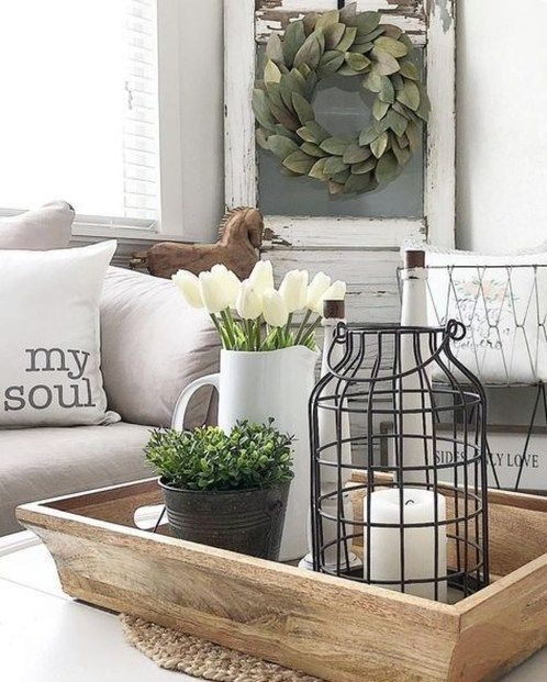 Stunning Rustic Farmhouse Living Room Decor Ideas 14 | Farmhouse in
