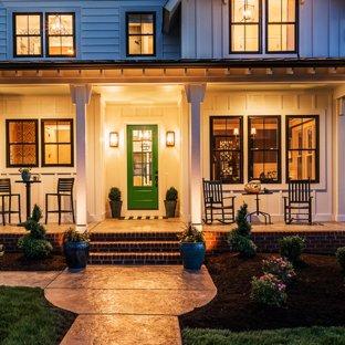 75 Most Popular Farmhouse Stamped Concrete Porch Design Ideas for