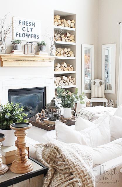 Hello Spring Home Tour Part 2 | FARMHOUSE | Living room decor, Home