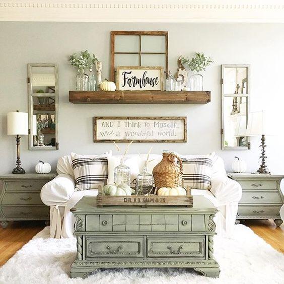 Farmhouse Living Room Decor Ideas – savillefurniture