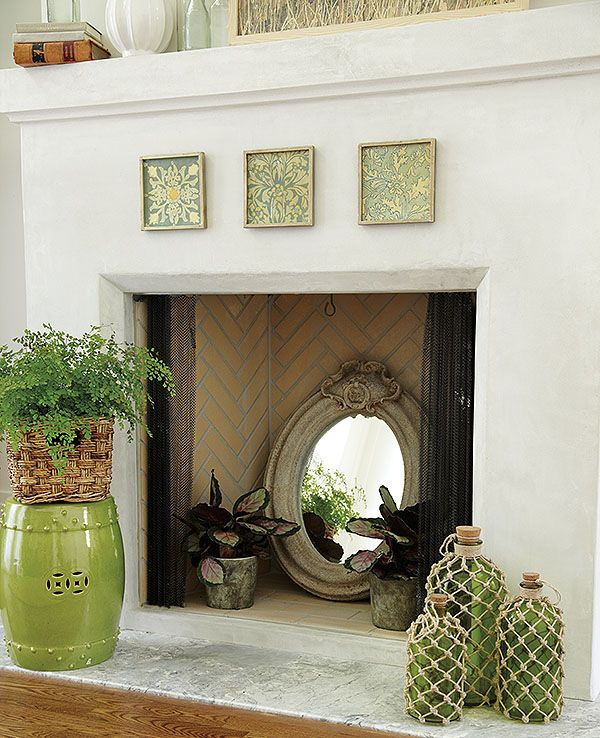 Our Favorite Fillers for a Cool Summer Fireplace | Fireplaces