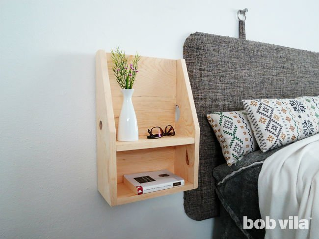 DIY Floating Nightstand Tutorial - Bob Vila