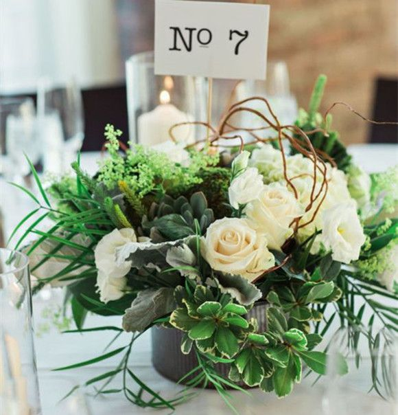 Most Stunning Round Table Centerpieces | 50th Anniversary | Rustic