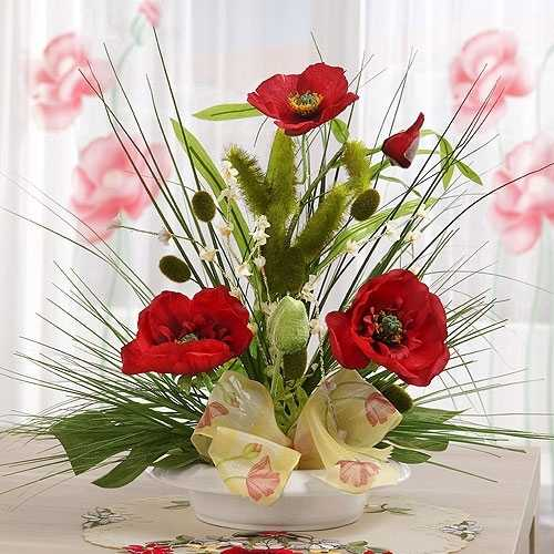 15 Gorgeous Red Poopy Flower Arrangements and Remembrance Day Table