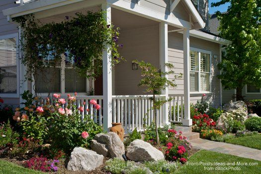 Landscaping with Rocks Around Your Porch | Cozy porches | Front