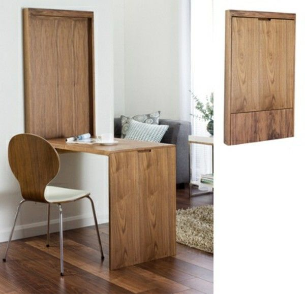 folding table wall mount Folding wooden table solid | Office Pod