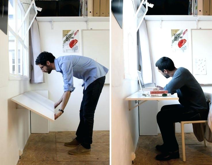 Space Saving Folding Table Lovely Folding Table Attached To Wall