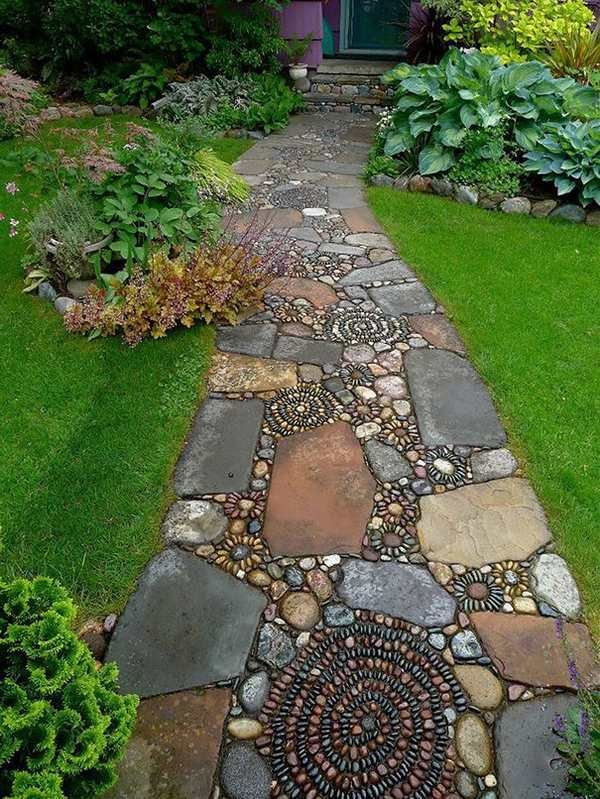 unique pebble stone garden path ideas landscape ideas patio design