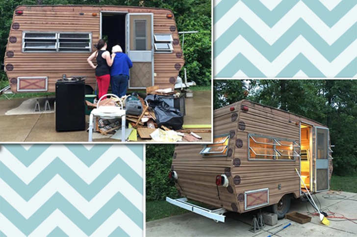 14 year-old transforms a 1974 Wilderness camper into a dreamy