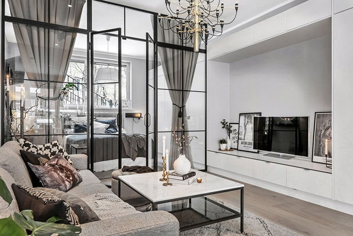 Glass Partition For Your Living Room 9