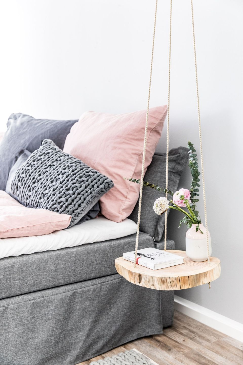 50 Cool Hanging Side Table with Rope Design Inspirations - DecOMG