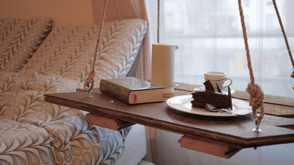 Hanging Side Table Rope Design Inspirations