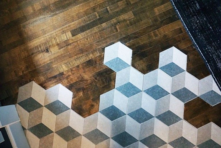 60 Inspiring Hexagon Tile Transitions Designs That You Must See