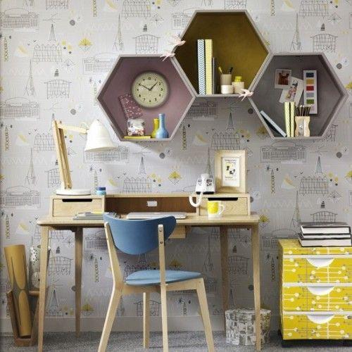 27 Stylish Geometric Home Office Décor Ideas - DigsDigs