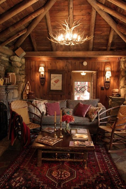 58 Wooden Cabin Decorating Ideas | Home Design Ideas, DIY, Interior