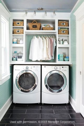 Laundry Room Decorating Ideas To Help Organize Space | So Clever