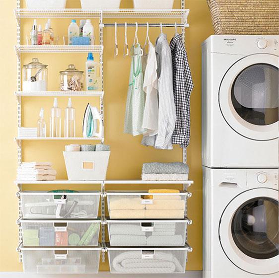 Laundry Room Shelving - Ideas for Laundry Shelving & Laundry Closet