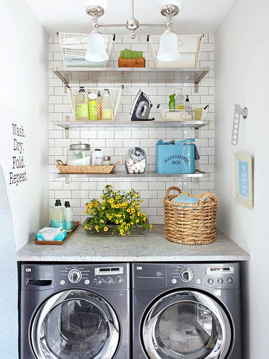 Small-Space Laundry Room Storage | DIY Ideas for Your Home | Laundry