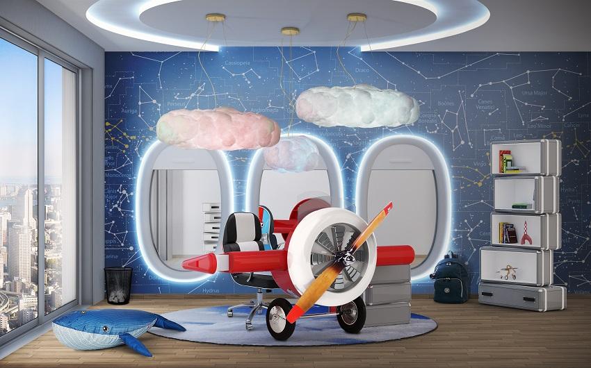Kids' Room Design - Sky Collection for Little Pilots | Archi-living.com