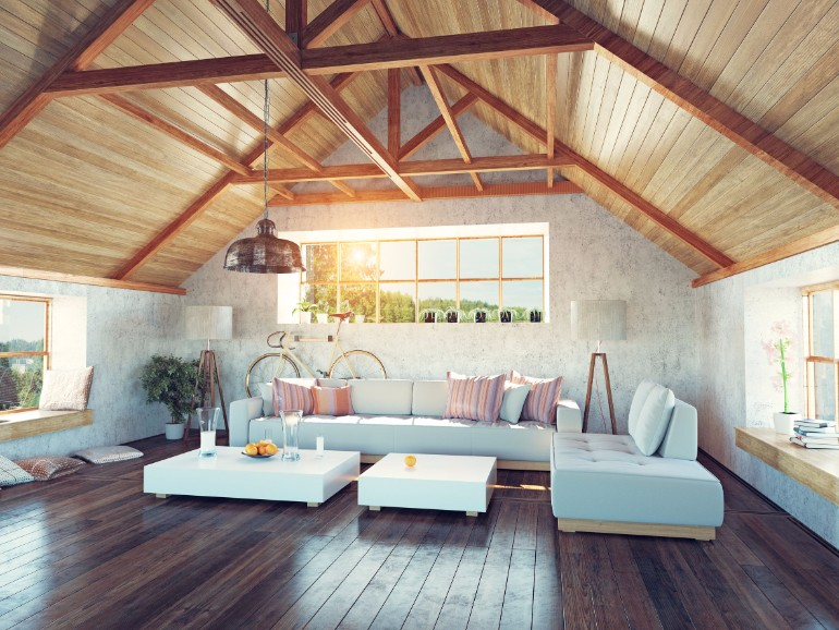 Living Rooms Design Ideas With Exposed Wooden Beams 6