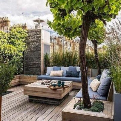 Lovely Garden Rooftop Ideas 15 | home & garden in 2019 | Outdoor