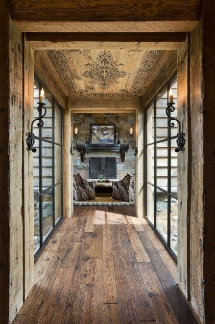 48 Lovely Rustic Hallway To Copy Now | Additions with long hallways