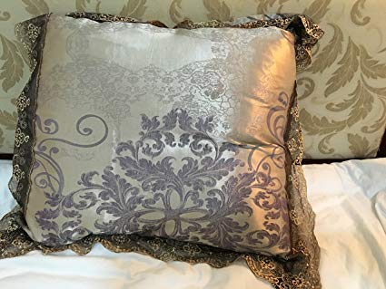 Amazon.com: Chesterch Prevoster Satin Embroidery Pillowcase 24
