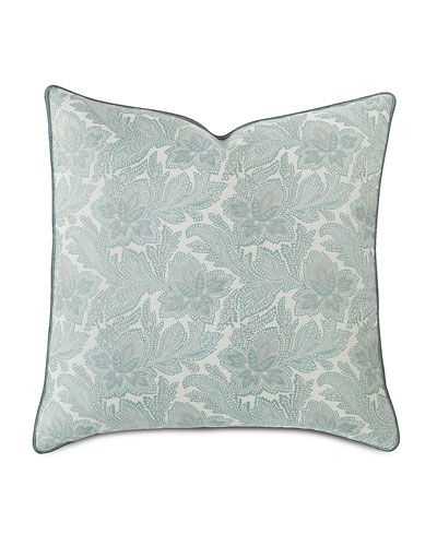 H8CR0 Eastern Accents European Central Park Floral Pillow | Master