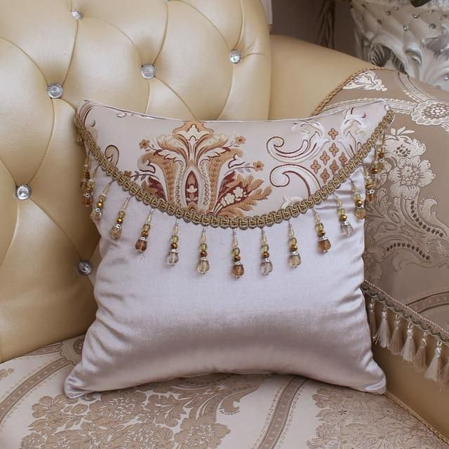 Square European Style Cushion Cover Luxury Decorative Cotton
