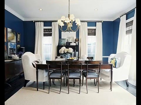 luxury navy blue dining room table and chairs decorating ideas - YouTube