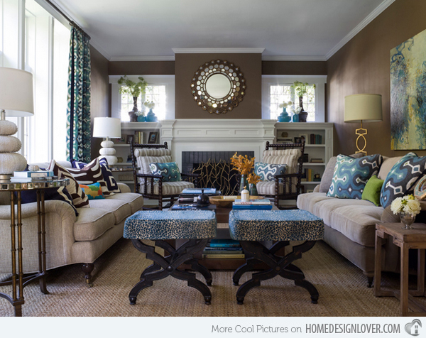 Luxury Blue And Brown Living Room 41 For Your Home Design Ideas with