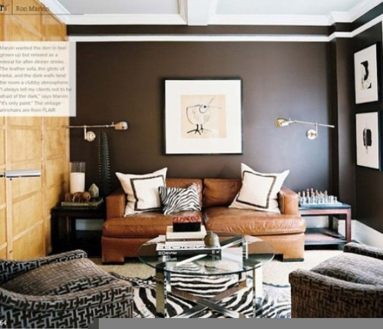 60 Awesome Masculine Living Room Design Ideas - DigsDigs
