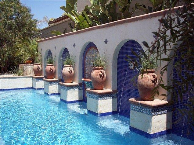 Mediterranean Pool Design Swimming Pool Studio H Landscape